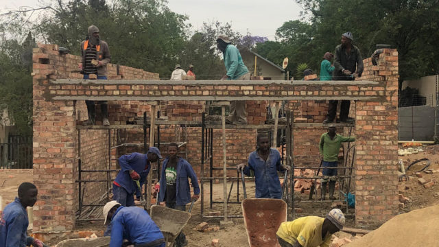 First Unit Building Progress